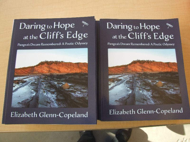 Elizabeth Glenn-Copeland's recently launched book, Daring to Hope at the Cliff's Edge Pangea's Dream Remembered:A Poetic Odyssey