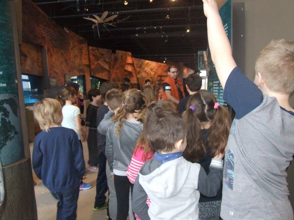 Students on a tour of Joggins Fossil Centre